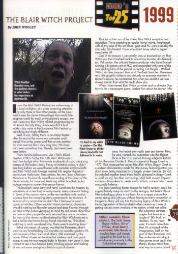 Fangoria article, click to view larger version